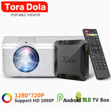Moet Hebben, Mini Projector, TD90S 1280*720P 2800 Lumens, Android 10.0 Doos, led Projector Voor Full Hd 1080P 4K Video Home Theater(China)