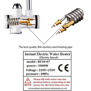 Image 4 - 3000W Instant Water Heater Crane Temperature Display Water Heater Electric Hot Water Tankless Heating Bathroom Kitchen Faucet