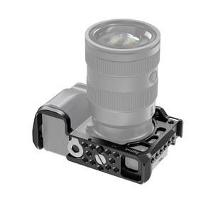 Image 3 - SmallRig A6600 מצלמה כלוב עבור Sony A6600 Dslr כלוב עם קר נעל Arri חורי איתור חצובה ירי כלוב אבזר 2493