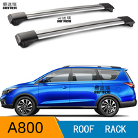 2 uds barras de techo para changan A800 2017 2018 2019 2020 barras laterales de aleación de aluminio travesaños portaequipajes CUV SUV LED
