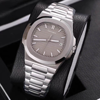 Sport watch mens mechanical watches sapphire glass Brown dial stainless steel bracelet sports watch Glide sooth second hand w