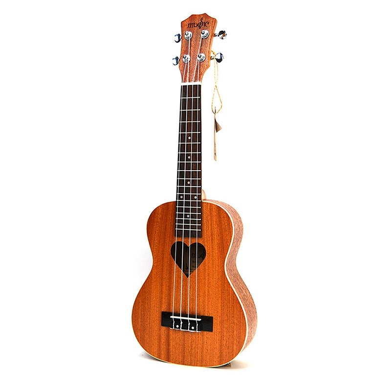 21 Inch Ukulele Soprano Four Strings Hawaiian Mini Guitar Ukulele Acoustic Guitar Heart Pattern Guitarra Chitarra