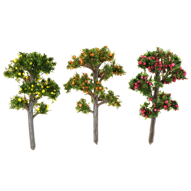 1Pc Resin DIY Crafts Fruit Trees For Garden Ornament Dollhouse Plants Home Decoration Furniture Toy Accessories