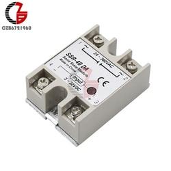 DC-AC Solid State Relay Switch Module SSR-10DA SSR-25DA SSR-40DA SSR-50DA 10A 25A 40A 50A 3-32V 24-380V SSR 10DA 25DA 40DA 50DA