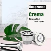 Cápsula de café para café nespresso reutilizável refillab filtro de café de aço inoxidável copo de café Filtros de café Casa e Jardim -