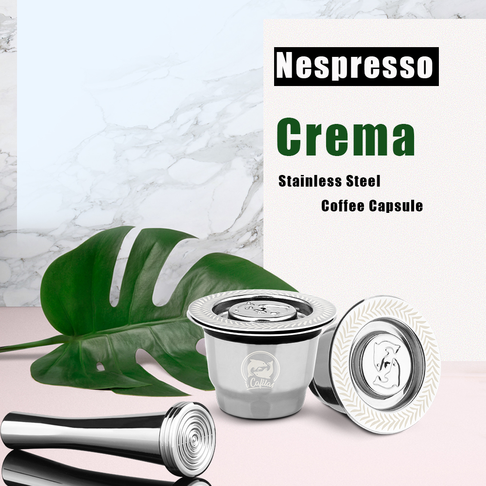 ICafilas Crema Coffee Capsules For Nespresso Reutilisables Inox Rechargeable Filter Stainless Steel Espresso Cup VIP Link