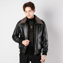 Frete grátis. clássico g1 estilo masculino casaco de couro, jaquetas de couro do motor, homem preto jaqueta de couro genuíno. homme ao ar livre algodão