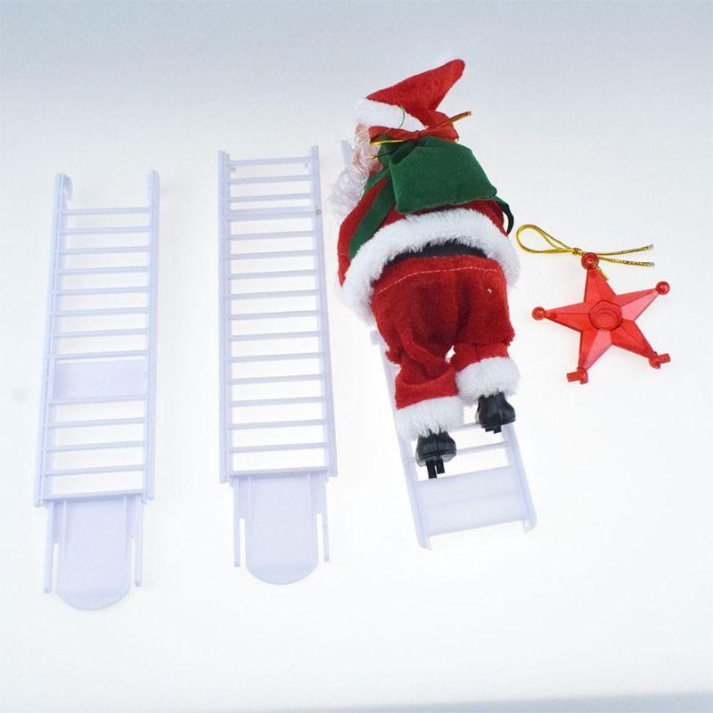 Электрический Санта Клаус лестница для альпинизма кукла украшение