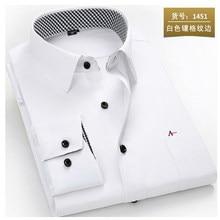 2020 reserva aramy nova camisa dos homens de manga longa camisa do vestido dos homens moda masculina negócios formal wear escritório camisas de trabalho camisa branca