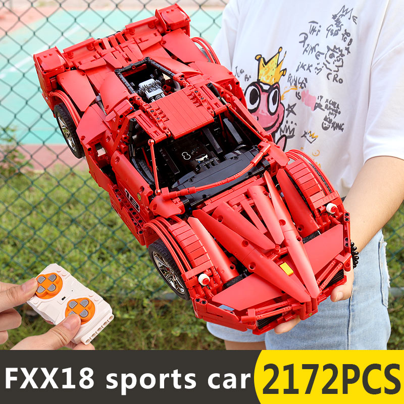 Yeshin 18035 มอเตอร์ฟังก์ชั่นรถ FXX Sport รถแข่งรถความเร็วสูงรถ Technic 1:8 รถเด็กคริสต์มาสของขวัญอาคารบล็อก-ใน บล็อก จาก ของเล่นและงานอดิเรก บน   3