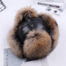 2020 зимняя мужская шапка бомбер из 100% натурального Меха чернобурки