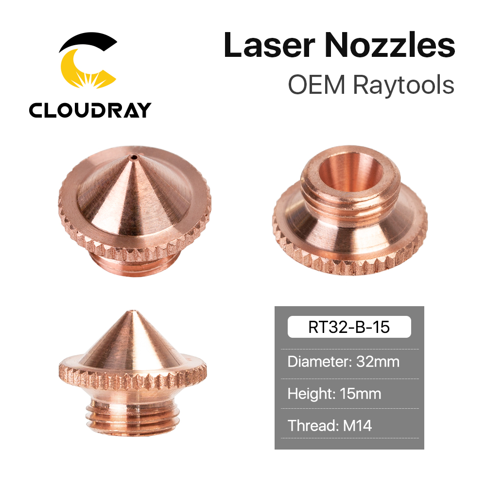 Cloudray I Series Precision Cutting Nozzle Caliber 0.5mm For Fiber Laser Cutting Head Machine