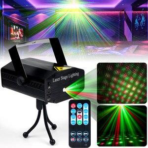 Диско-светильник Nice Mini RGB, диджейский светодиодный лазерный сценический проектор 5 В, перезаряжаемый, для свадьбы, дня рождения, Рождества, KTV...
