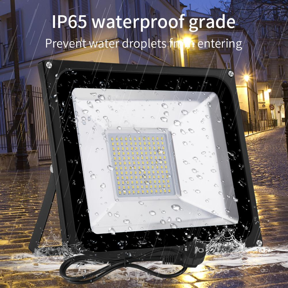 Led Flood Lights 100W Floodlights SMD Outdoor Flood Lamps Ip66 Waterproof 220V Warm White With EU Plug