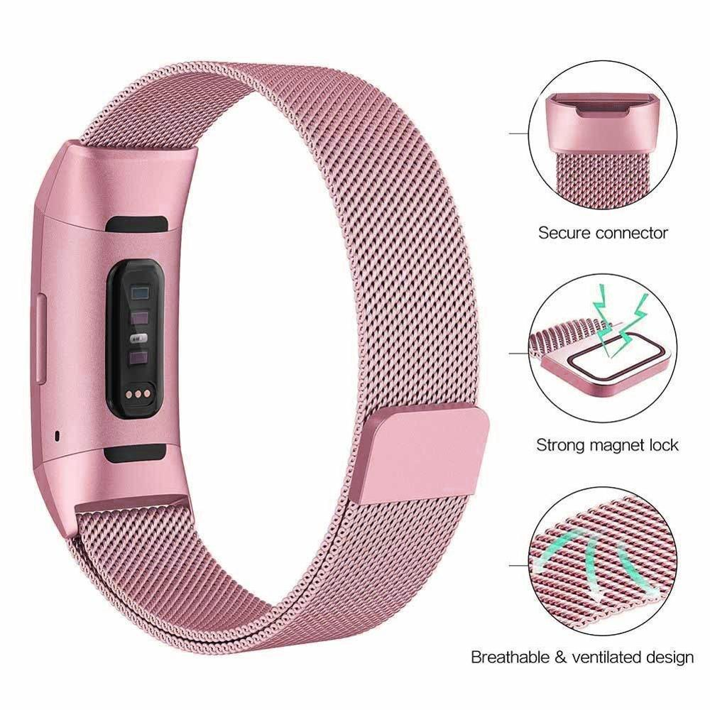 Milanese loop For fitbit charge 3 band replacement charge4 wristband stainless steel watch bracelet strap fitbit charge 4 band 3