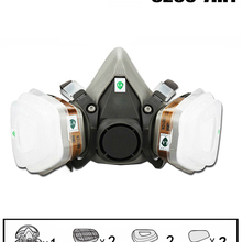 Gas-Mask Respirator Spray Painting Fire-Protection Dust Chemical-Smoke Pesticide Half-Face