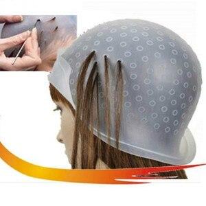 Image 1 - Riutilizzabile Professionale Salon Hair Color Colorazione Evidenziazione Dye Cap per Extensions Strumenti Per Lo Styling Barbiere Salone di Bellezza Dei Capelli