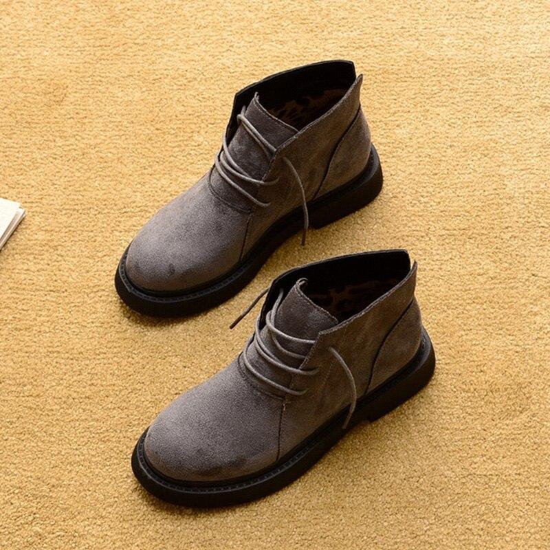 Image 5 - Новая осенне зимняя обувь; женские зимние ботинки; теплая плюшевая обувь; женская обувь на холодную зиму; Модные женские ботильоны; женские ботинки-in Полусапожки from Обувь