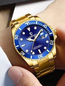 Bărbați ceas de afaceri-rochie cadou clasic de aur de sex masculin de lux cuarț impermeabil top-brand