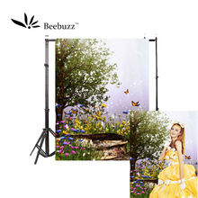 Beebuzz photo backdrop dream garden butterfly backgroung the camera takes beautiful and romantic personal photos