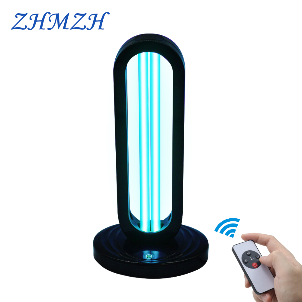 220V Remote Control Ultraviolet Sterilizing Lamp 38W UV Disinfection Light High Ozone UVC Germicidal Lamp Killing Coronary Virus