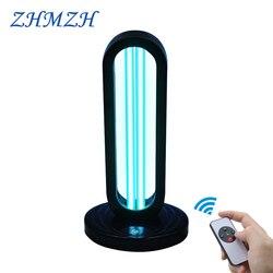 Lámpara esterilizadora ultravioleta de Control remoto de 110V y 220V, luz de desinfección UV de 38W, lámpara germicida UVC DE ALTO ozono, Virus asesino