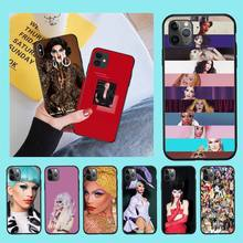 CUTEWANAN American Drag Queen Aquaria black Phone Case Cover Hull for iPhone 11 pro XS MAX 8 7 6 6S Plus X 5S SE 2020 XR case cutewanan american drag queen aquaria phone case cover tempered glass for iphone 11 pro xr xs max 8 x 7 6s 6 plus se 2020 case