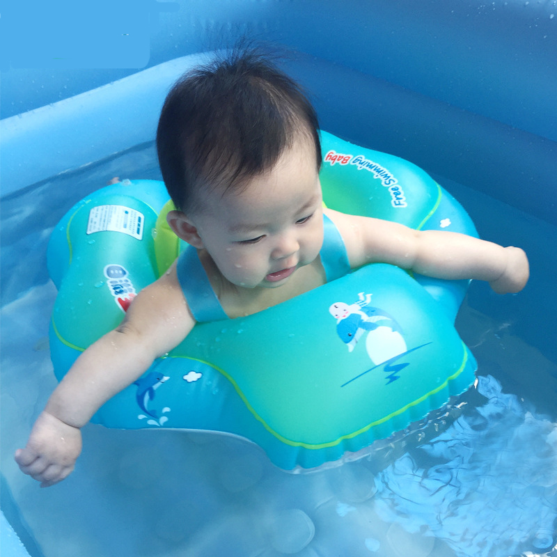 Kids Swim Pool Accessories Circle Bathing Inflatable Double Raft Rings Toy Baby Swimming Ring Inflatable Infant Armpit Floating