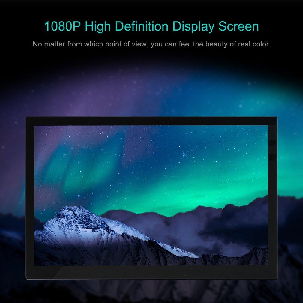 13,3 zoll Tragbaren Monitor HDMI 1366*768 HD IPS Display Computer LED Monitor mit Leder Fall für PS4 Pro /Xbox/Telefon