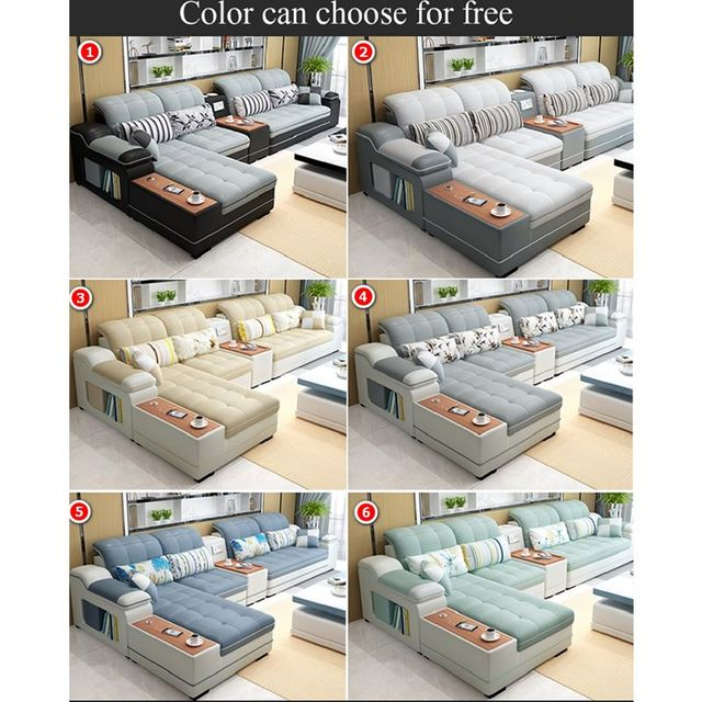 L Shaped Living Room Sofa Chaise  3