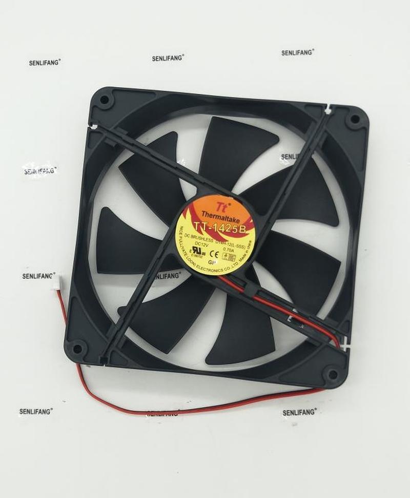 FOR Blower Cooling Fan TT-1425B L-SSS D14BM-12 DC 12V 2400RPM 14025 140*140*25mm Double Ball Cooling Fan