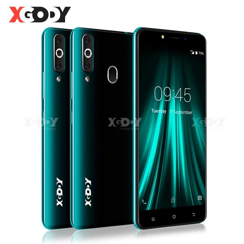 """XGODY K20 Pro 4G Smartphone double SIM 5.5 """"18:9 plein écran téléphone portable 2GB 16GB MT6737 Quad Core Android 6.0 empreinte digitale déverrouillage"""