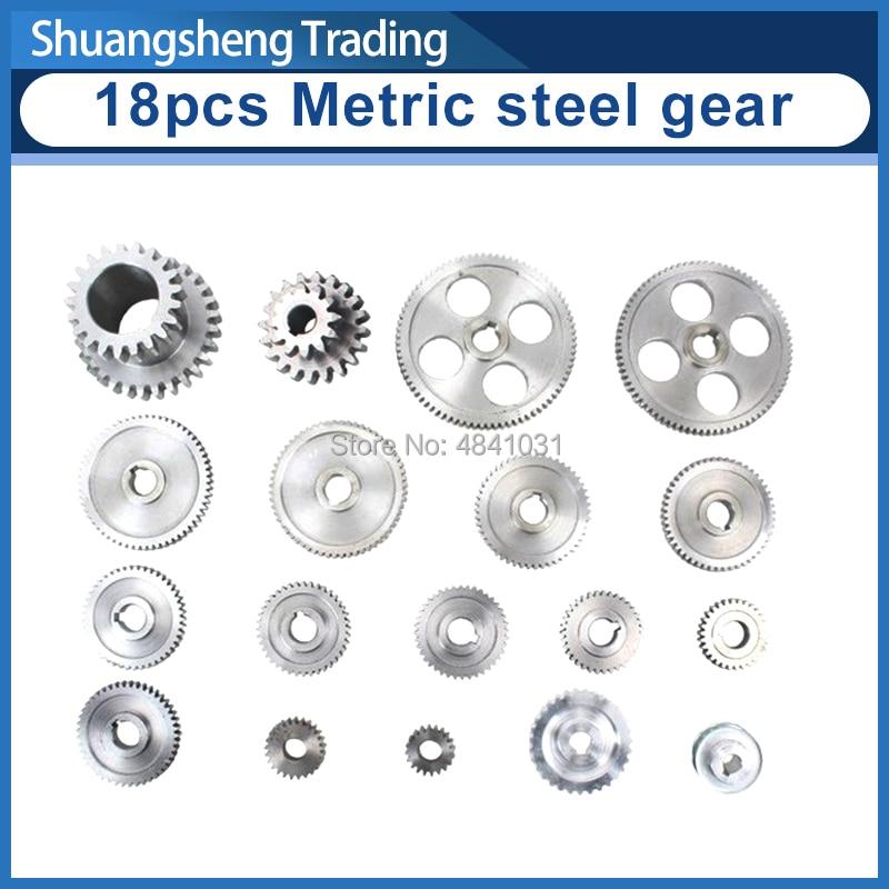 18pcs mini lathe gears 0618-345B Metal Cutting Machine gears lathe gears