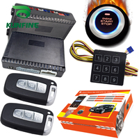 KUNFINE Smart Security Car Alarm Passive Keyless Entry Auto Central Lock Push Button Car Engine Start Stop Compatiable 1100XD