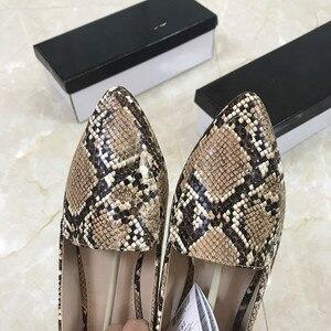 Image 5 - Womens flat Shoes autumn 2019 New Fashion Serpentine Flat soled Single Shoes Large Size Womens Shoes 41
