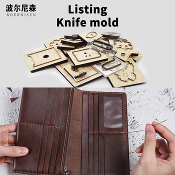 Fashion new long wallet wood mold cutting 2020 DIY trend practical hand-clad steel mold suitable for die cutting machine