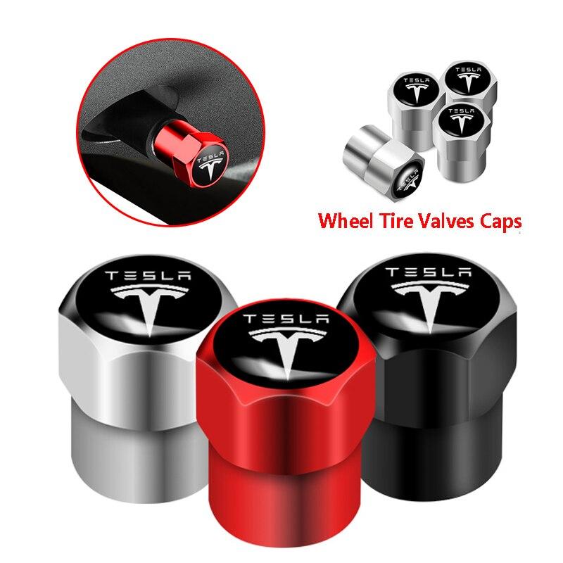 4 шт. Новые Металлические колпачки клапанов колес аксессуары для Tesla Model 3 Model X Model S автостайлинг