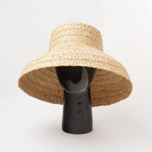 Image 2 - Sommer hüte für frauen Retro flache hängenden hut krempe hand made bast stroh hut damen outdoor sonnenschutz strand stroh hut