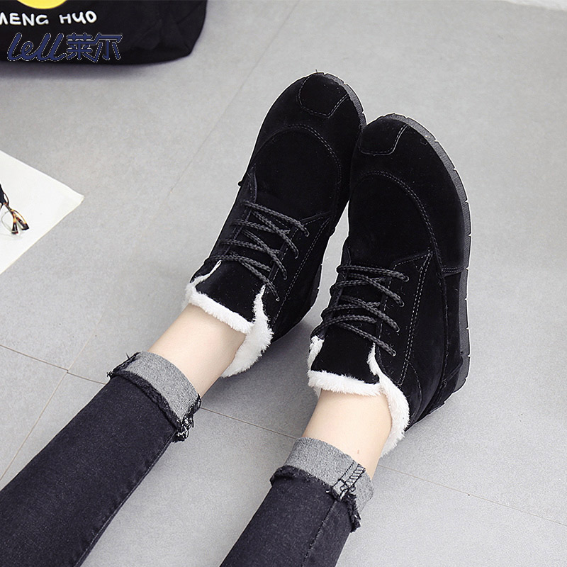 New 2019 snowshoe bread shoes, women's winter outdoor casual boots fashion cute warm suede ankle boots 22