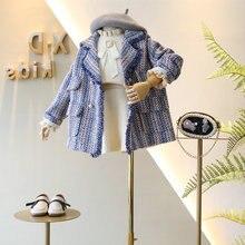 Коллекция года, модная зимняя одежда для маленьких девочек детские куртки для девочек, осенне-зимнее пальто 8, 9, 10 лет, детская утепленная ветровка