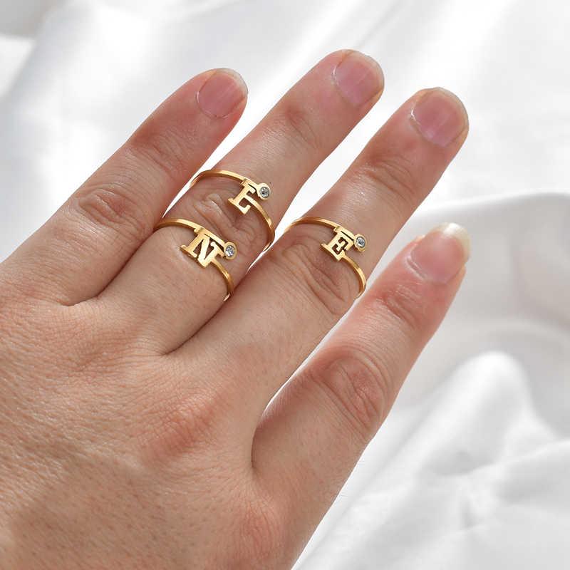 Fharms สองสี Olive สาขาต้นไม้ใบเปิดแหวนผู้หญิงแต่งงานแหวนนิ้วมือเครื่องประดับ Xmas