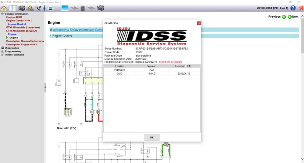 For Isuzu E-IDSS Engineering Release 2020 - Isuzu Diagnostic Service System+keygen