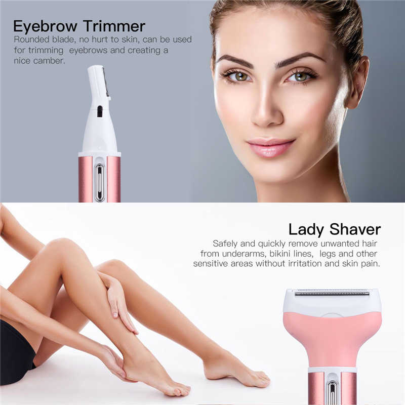 Multifunction Women Body Hair Removal Electric Face Hair Trimmer