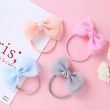 Baby Headband Hair-Accessories Rubber Newborn Candy-Color Toddler Bow-Not-Headwrap Elastic