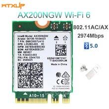Беспроводной адаптер NGFF AX200NGW для Intel, Wi-Fi 6 AX200, сетевая карта 2400 Мбит/с, 2,4 ГГц/5 ГГц, 802.11ac/ax Wi-Fi, Bluetooth 5,0, MU-MIMO