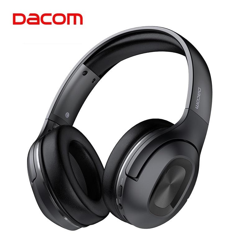 Dacom HF002 Folding Portable Bluetooth 5 0 Wireless Headphones 67H Playtime Bluetooth Headphone With MIC For
