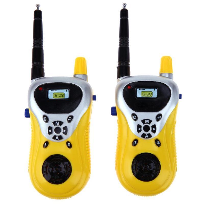2pcs Portable Interphone Electronic Walkie Talkie Kids Child Mini Toys