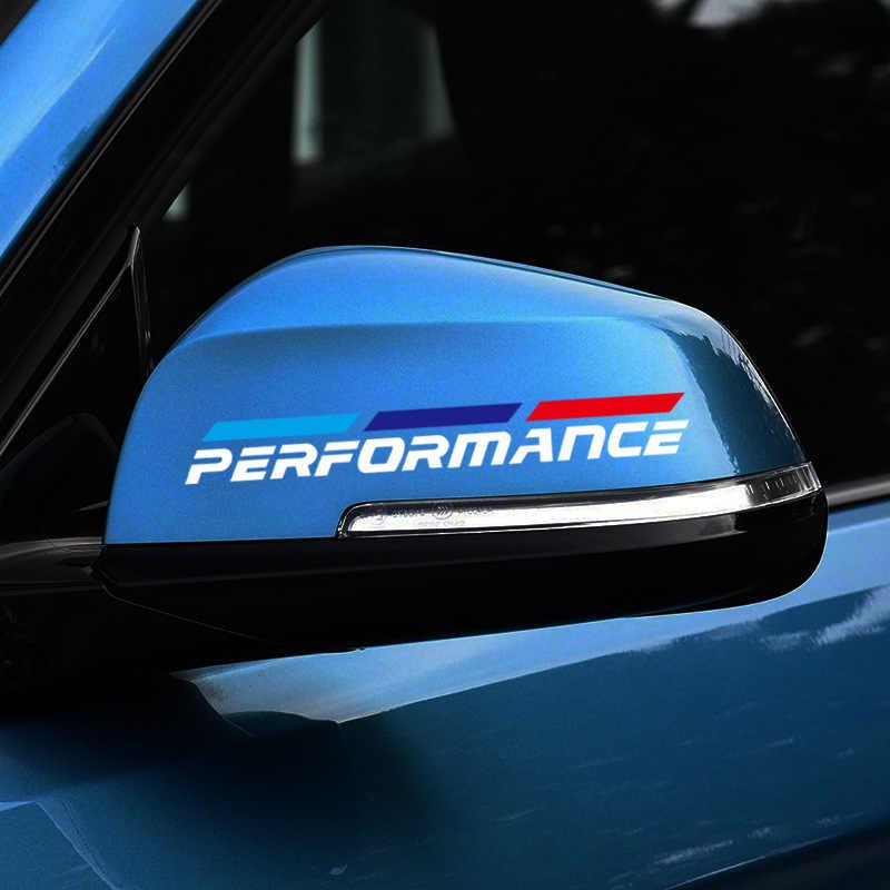 2pcs M כוח ביצועים רכב rearview מראה מדבקה עבור BMW 1 3 4 5 7 סדרת GT X1 X3 x4 X5 X6 F15 F16 F18 F10 F25 F30 F31 F34