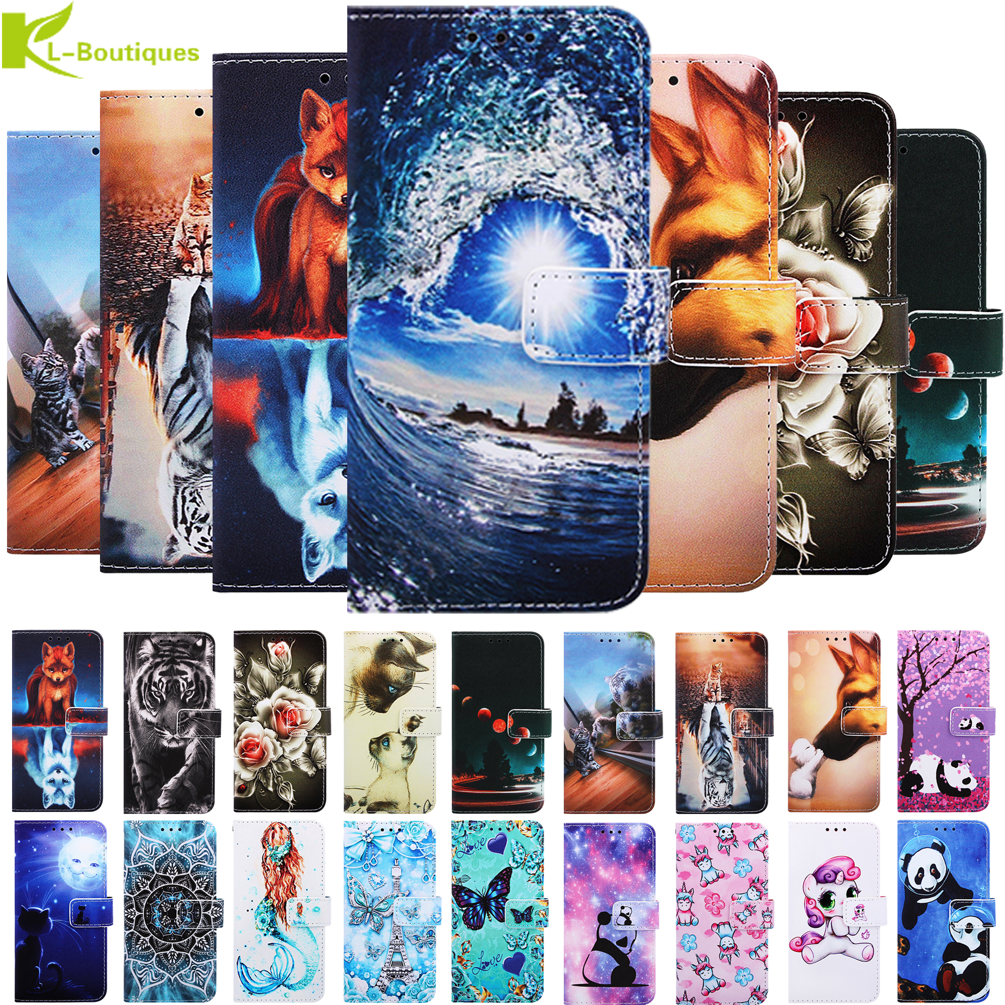 A01 Case For Samsung Galaxy A 01 A015F SM-A015F SM-A015G SM-A015M Coque For Samsung A21 SM-A215F/DS Flip Painted Leather Cover