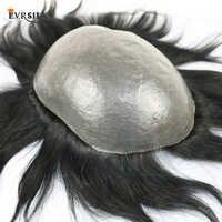 Eversilky 100% Remy Cheveux Humains Durable PU Hommes Toupet Naturel Délié Remplacement Système Mans Perruque